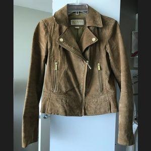 Tan suede Michael Kors leather jacket